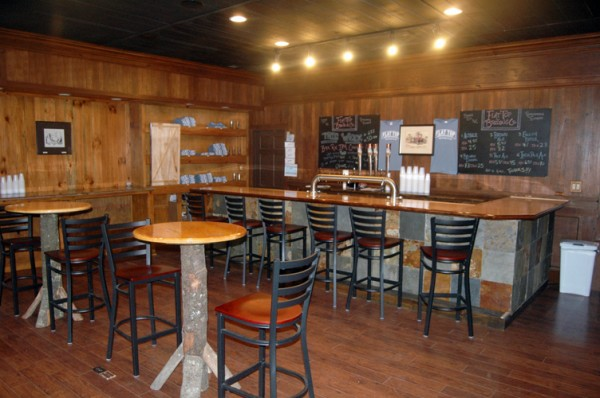 The tasting room of Flat Top Brewing Company.