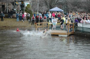 More than 200 jumpers participated in year's Polar Plunge, raising more than $8,000 for Watauga County Special Olympics. This year's plunge will be held Feb. 21. Photo by Paul T. Choate