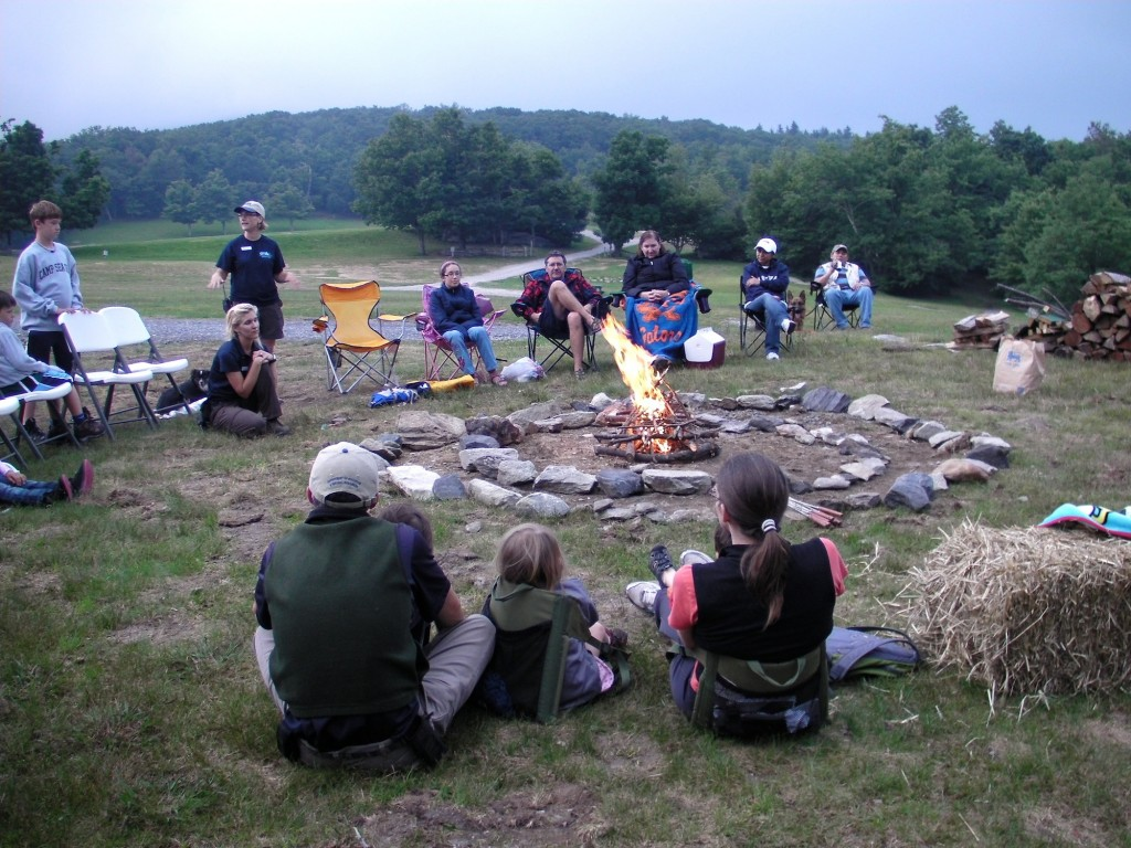 Meeting around the campfire is one of the highlights of the Grandfather Mountain Campout, set for July 25-27. Photo courtesy of Grandfather Mountain Stewardship Foundation.