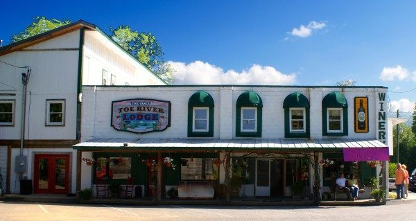 What is now  the Toe River Lodge was originally built in 1919 and operated as the T.B. Vance General Store in Plumtree.