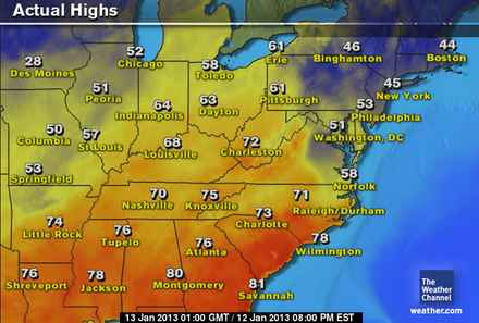 Weekend Weather Map Weekend High Temperatures Shatter Records Around the Southeast