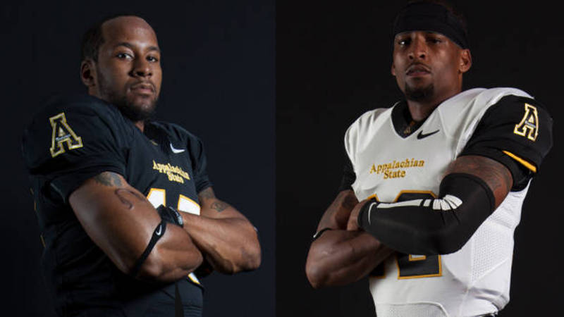 Tony Washington (left) and Jamal Londry-Jackson (right) have both been named to the official watch list for the 2014 Senior Bowl. Courtesy App State Sports - Chase Reynolds