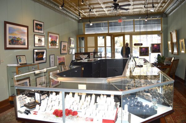Inside Old World Galleries in Boone. Photo by Jessica Isaacs.